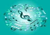 14636762-musical-notes-flying-on-a-green-background