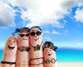 13422090-finger-family-travels-at-the-beach-as-concept