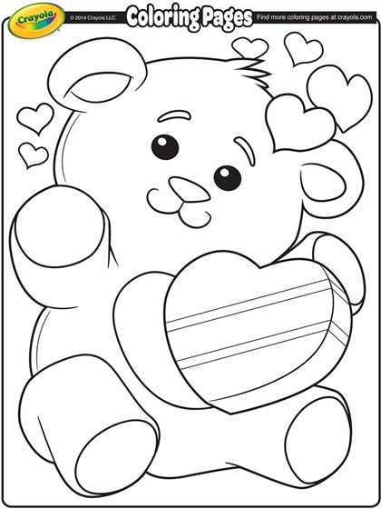 older valentines day coloring pages - photo#4