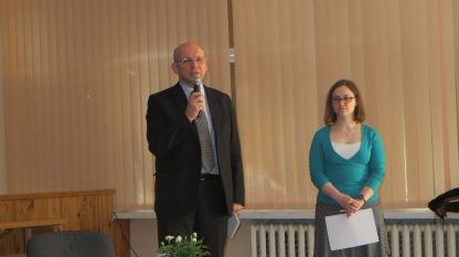 UPC direktorius Giedrius Vaidelis ir projekto koordinatorė Rasa Jančiauskaitė.
