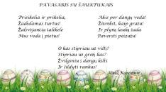 sveikinimas Velykų proga 2