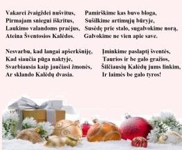 Sveikinimas Kalėdų proga
