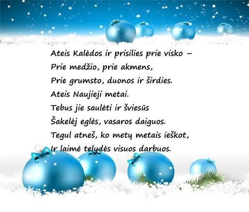 sveikinimas su Kalėdomis ir...