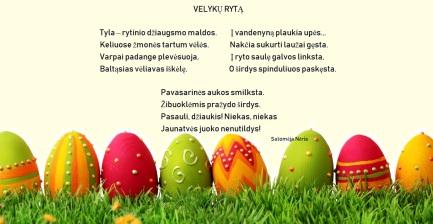 sveikinimas Velykų proga