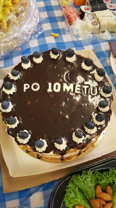 Susitikimą pasaldinęs tortas :)